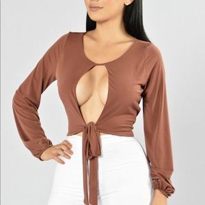 Red brown top
